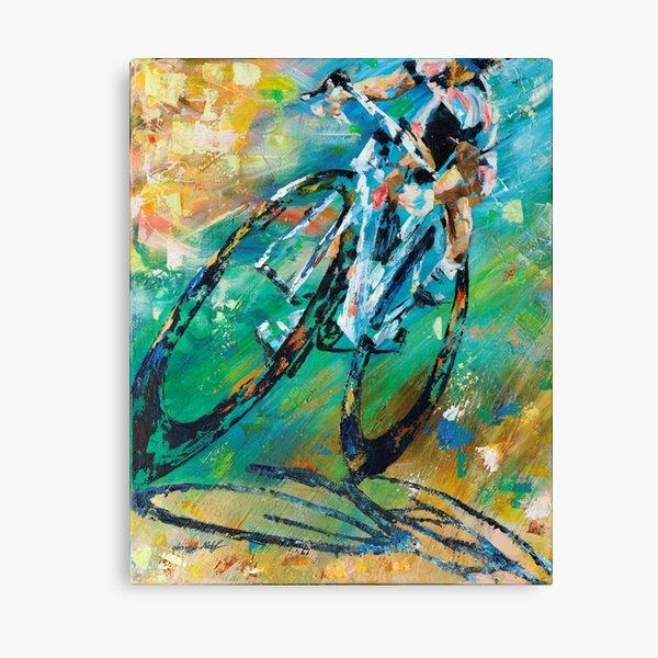 Stamina - Biker Triathlete by Daisy  Canvas Print