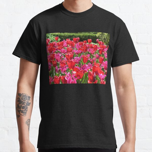 Bright Pink-Red Tulips Classic T-Shirt
