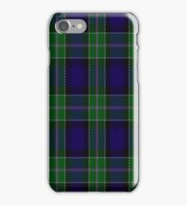 02228 Blue Metal  Jacket, (Unidentified #50) Fashion Tartan iPhone Case/Skin