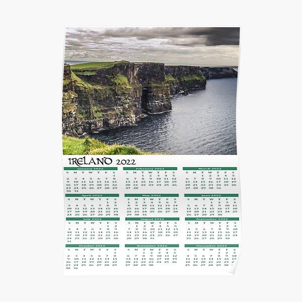 Irish Calendar 2022 - Ireland Cliffs of Moher Poster