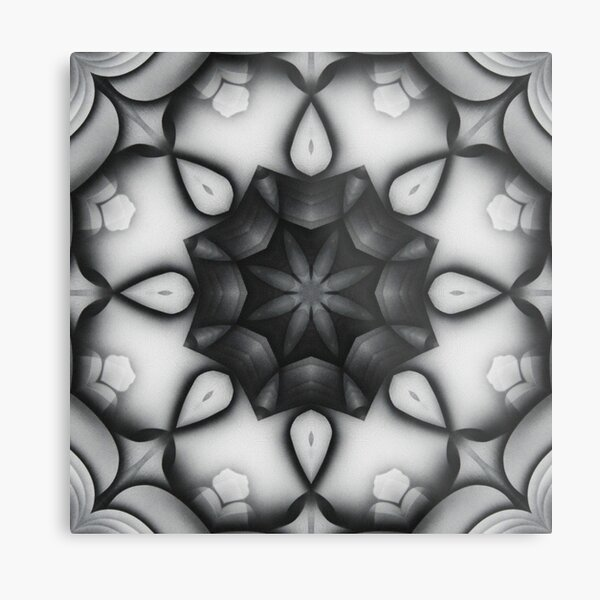 Shades of Grey Metal Print