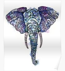 Safari Elephant Poster
