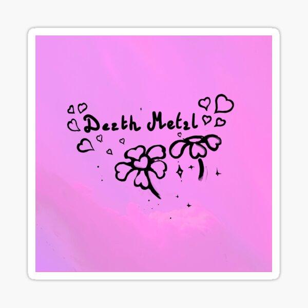 Death Metal Logo Sticker