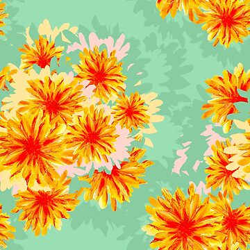 Seamless pattern with flowers by HelgaGraf