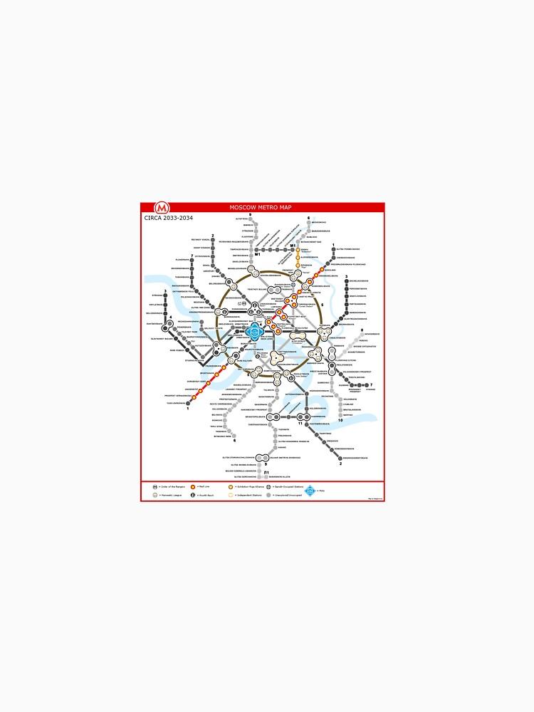 Metro 2033 Moskau Karte T Shirt Von Rooser Redbubble