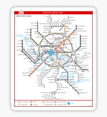Metro 2033 Moscow Map Sticker