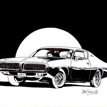 1972 Dodge Charger - Little Black Dress by RustedStudio