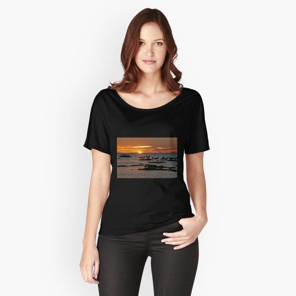 Sunset over Ningaloo Women's Relaxed Fit T-Shirt Front