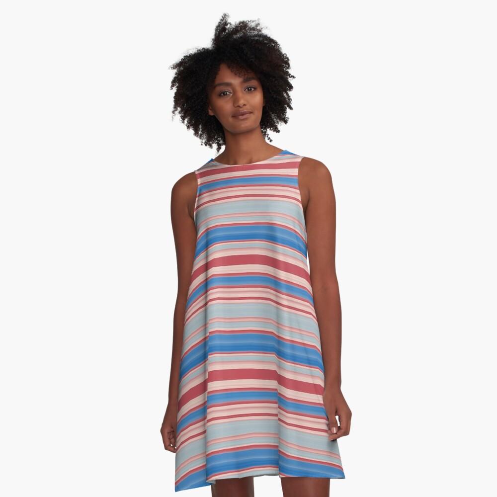 Stripes 310515 (13) A-Line Dress Front