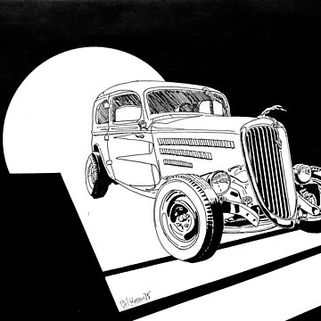 1934 Ford Tudor Sedan Hotrod - Inked by RustedStudio