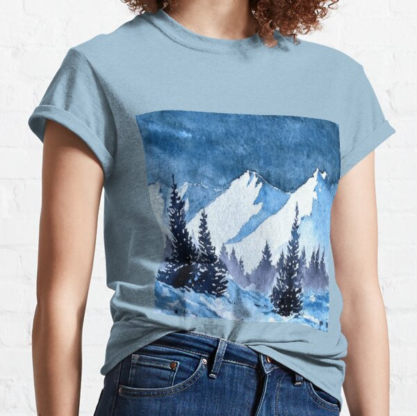 Snowy Mountains Painting Classic T-Shirt