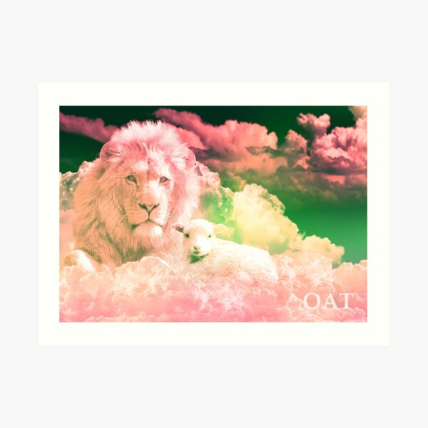 The Pink Lion and the Lamb Art Print