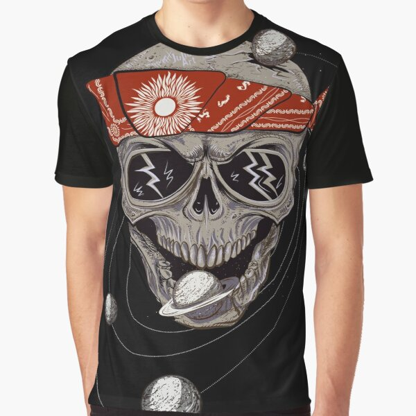 Space Skull by Julia Art Graphic T-Shirt