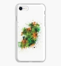 Ireland Map Paint Splashes iPhone Case/Skin