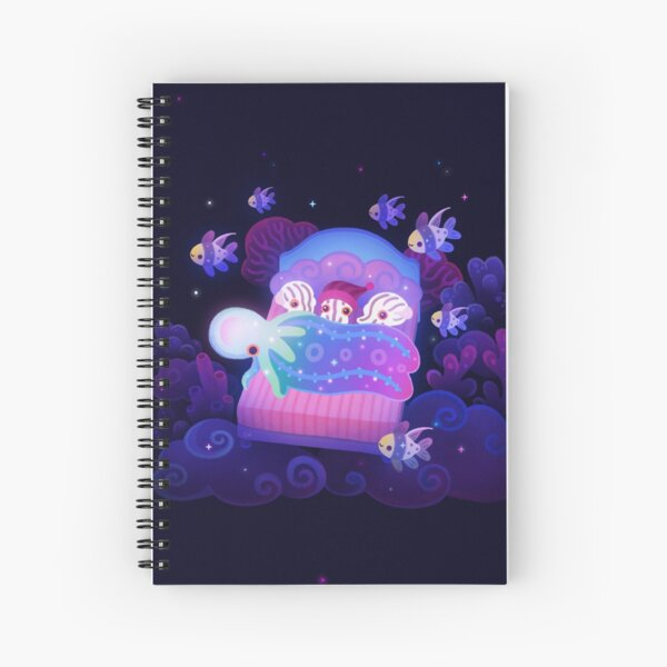 Blanket octopus Spiral Notebook