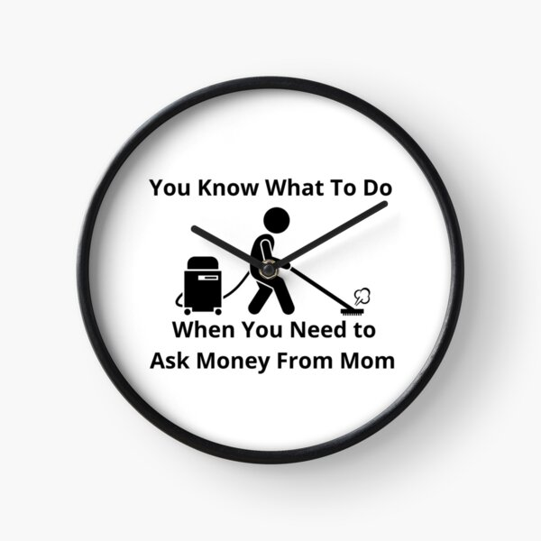 Cleaning Humor Clock