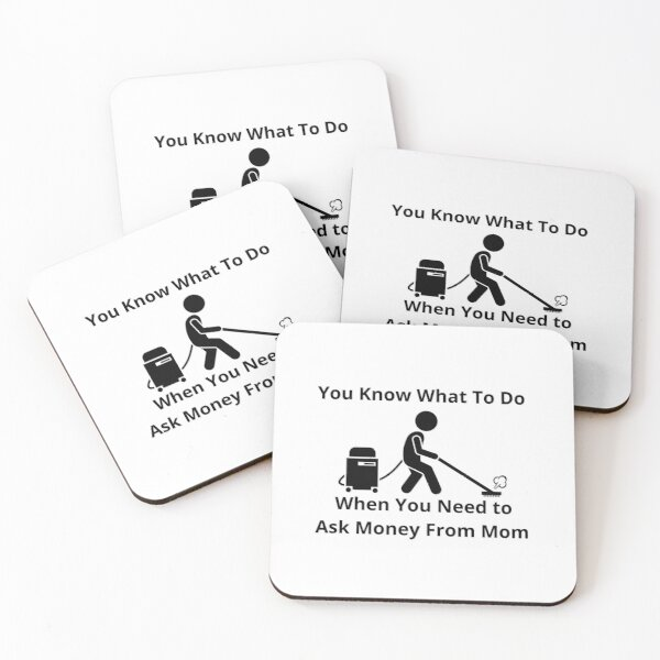 Cleaning Humor Coasters (Set of 4)