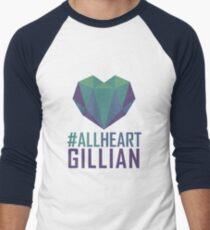 #AllHeartGillian - Blue Men's Baseball ¾ T-Shirt