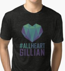 #AllHeartGillian - Blue Tri-blend T-Shirt