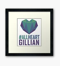#AllHeartGillian - Blue Framed Print