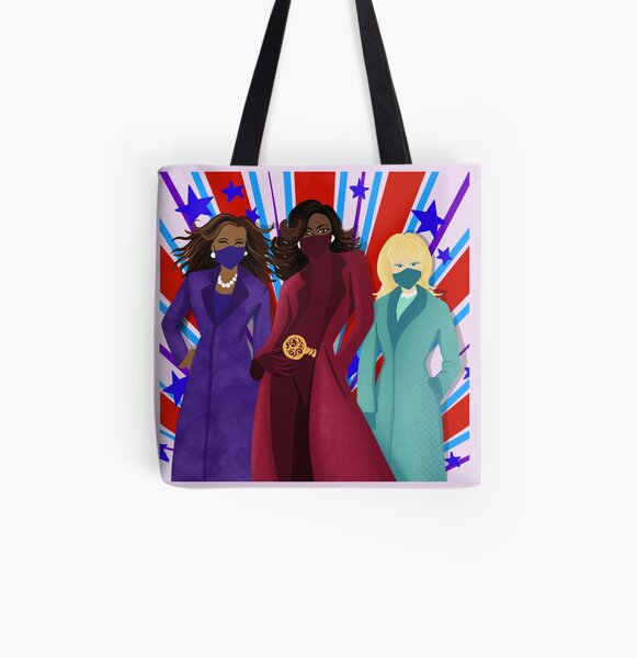 Masked Up Mommas All Over Print Tote Bag