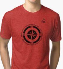 Boating t-shirt Compass - East Peak Apparel Tri-blend T-Shirt