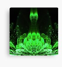 Matrix Flower - Abstract Fractal Artwork Canvas Print