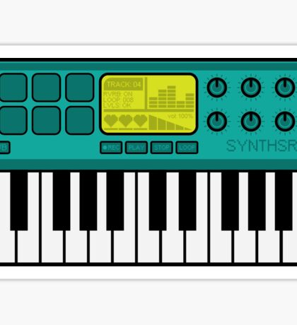 Synth Midi Controller - Aqua Sticker