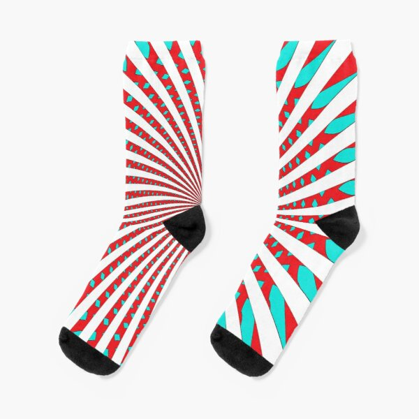 #MOVING #EYE #ILLUSION #Pattern, design, circular, abstract, illustration, art Socks