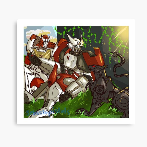 Rest and Peace: MTMTE Dratchet and Ravage Canvas Print