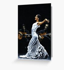Concentracion del funcionamiento del flamenco Greeting Card