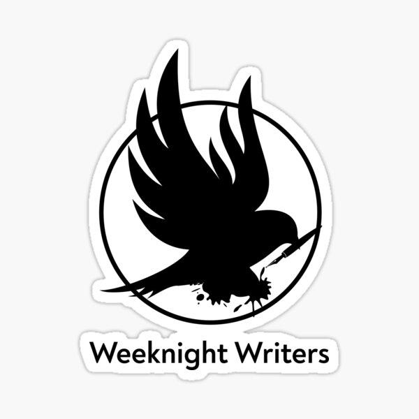 Weeknight Writers B&W Logo Sticker