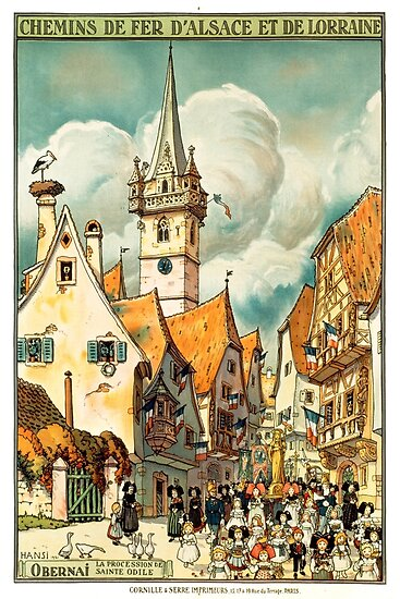 Obernai, French Travel Poster by paulrommer