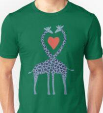 Giraffes in Love - A Valentine's Day Illustration Unisex T-Shirt