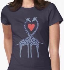 Giraffes in Love - A Valentine's Day Illustration T-Shirt