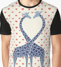 Giraffes in Love - A Valentine's Day Illustration Graphic T-Shirt