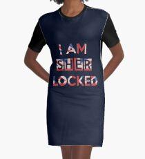 I Am Sherlocked Graphic T-Shirt Dress