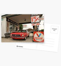 Gas Station Mustang Postcards