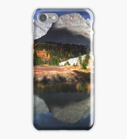Reflected in Arethusa pond iPhone Case/Skin