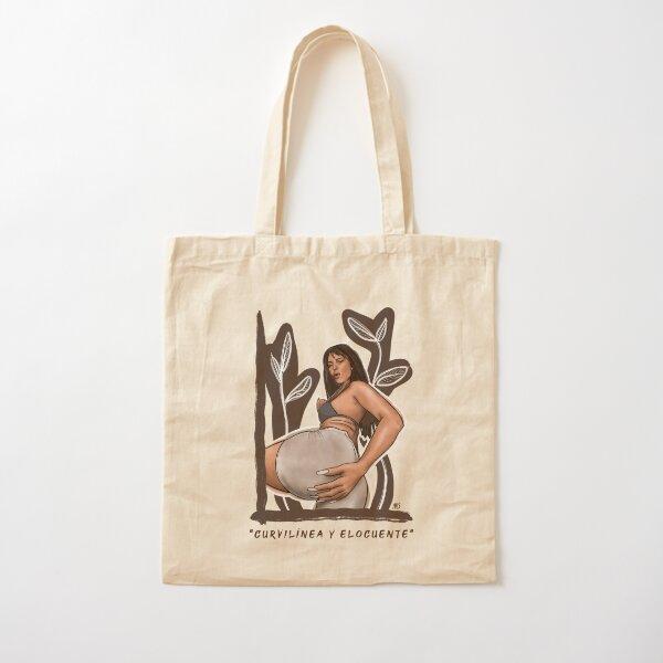 Ilustración homenaje Nathy Peluso curvilínea y elocuente  Bolsa de algodón