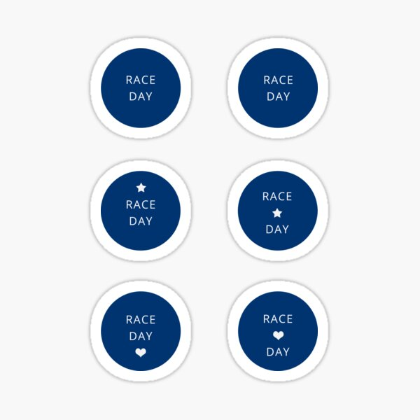 Race Day! Running calendar / training diary / planner Sticker