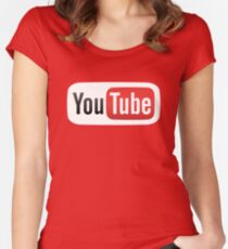 YouTube Women's Fitted Scoop T-Shirt
