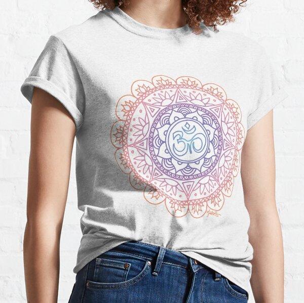 Pink Ohm Mandala Design Classic T-Shirt