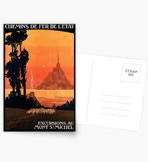 Mont St Michel, French Travel Poster Postcards