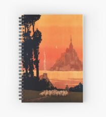 Mont St Michel, French Travel Poster Spiral Notebook