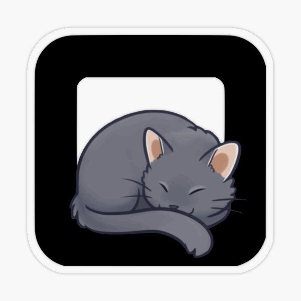 Square Cat Logo Transparent Sticker