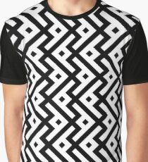 Abstract geometric monochrome pattern Graphic T-Shirt