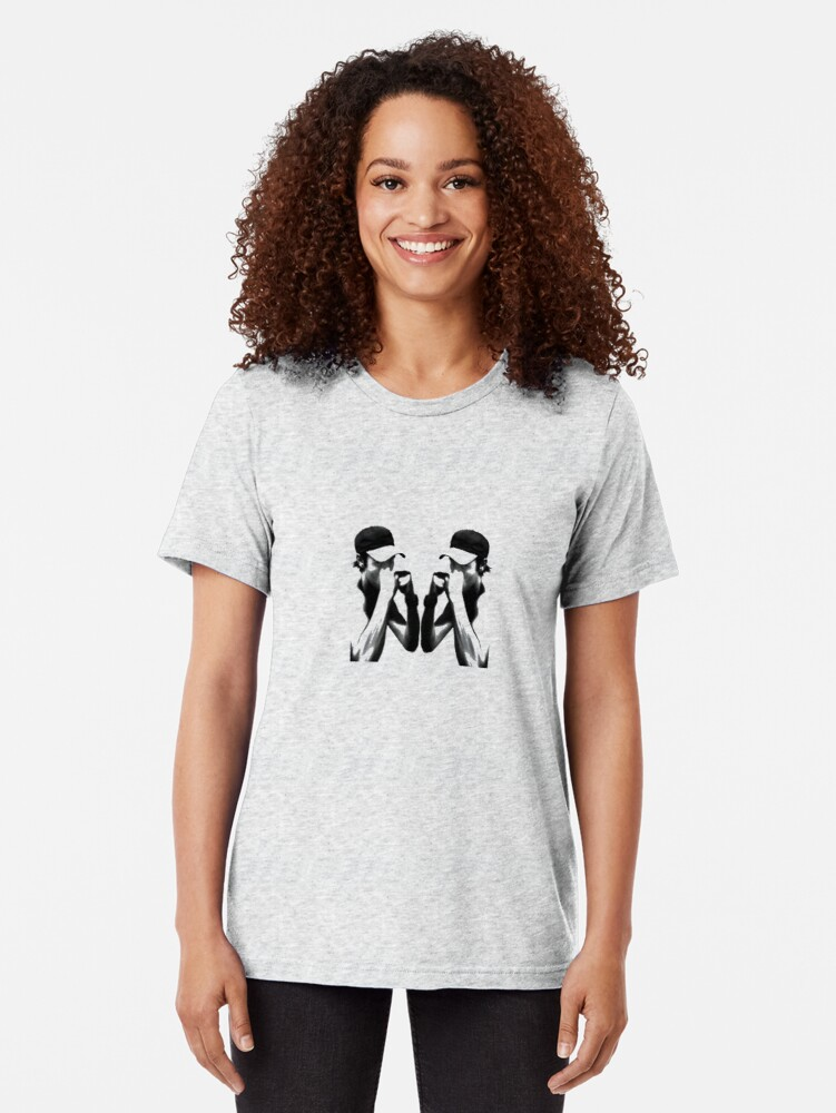 Alternate view of Heron vs Heron - Artwork Tri-blend T-Shirt
