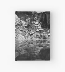 Canyon Wall Reflection at Lake Powell ~ Black & White Hardcover Journal