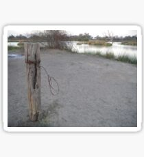 Old Fence Post_Birdsville_Queensland_Australia Sticker